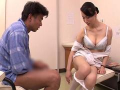 ナース 私がお手伝いいたします! 熟女ナースが男性患者とマジSEX