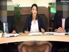 ニュース番組で女子アナにチンポ挿入してひたすらSEX