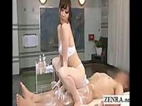 素股コキで洗体する献身的なサウナレディ