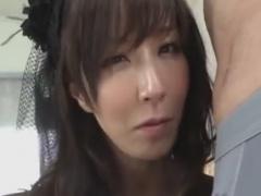 痴熟女の目隠し寸止め手コキ責めに悶絶させられるM男動画