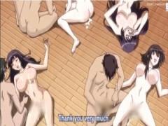 エロアニメ 洗脳美女たちを集めたレイプ宗教団が! 孕ませ自由のハーレム解放!