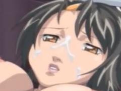 エロアニメ えびぞり状態で犯されちゃう美巨乳おっぱい美女がトドメにアナ...
