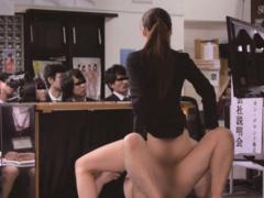 SOD女子社員 激ピストンされても就職活動中の大学生にバレないように会社...
