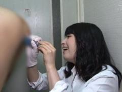 トイレに上司を連れ込んでアナルを犯す巨乳痴女部下