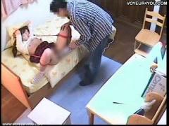女子校生が鬼畜家庭教師に手足を緊縛拘束されマンコを電マ責めされてよが...