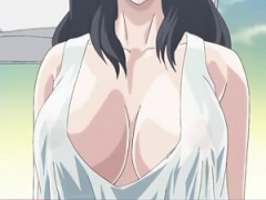 エロアニメ 隣のヒトヅマがノーブラ状態だった‥覗いてたら見つかって‥でも...