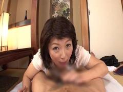 五十路熟女の主観淫語責め手コキ抜き! !