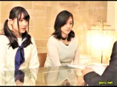 AV女優の若菜亜衣 アイドルオーディションに来た巨乳美少女女子校生を母親...