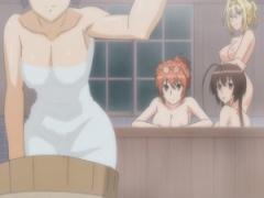 入浴シーンに身体測定! 寝起きの乳もみ! 巨乳と貧乳の美少女ハーレム! エ...