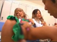 美少女ギャルJK達が中年男性教師陣のチ◎ポをしゃぶりアナルを舐め尽くす 2