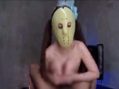 顔出しNGな仮面女性を拘束して圧倒的爆乳を揉み倒す! さらに激しい高速パ...