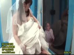 マジックミラー号! ウェディングドレスの新婦をミラー越しの新郎の前で寝取り