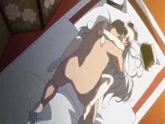 エロアニメ シックスナインでクンニと指入れで愛液まみれのアソコにデカチ...