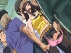 エロアニメ 巨乳美少女をマンぐり返し! 電マでクリトリスを刺激しまくって...