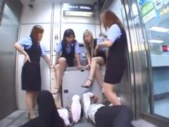 唾液M男 ATMのメンテに行ったら…超おっかない制服パンストギャル行員たち...