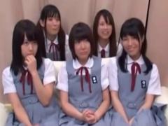 マジックミラー号 修学旅行中の黒髪の女子校生5人が大人の餌食に! セクハ...