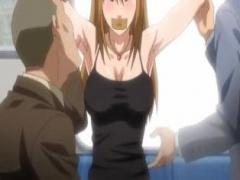"""エロアニメ 痴漢は覚悟してたけどまさかの""""ワキ責め""""舐めに本気の反応をし..."""