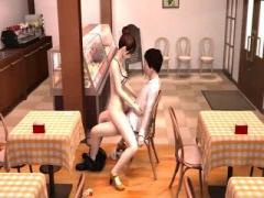 カフェ女店員と店内セックスな3Dエロアニメ