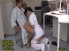 患者さんに高速ピストンされ我慢できず喘ぎまくるナース 看護師 可愛い 立...