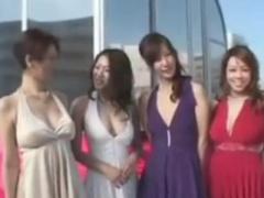 美熟女四天王の風間ゆみ 友田真希がゴージャスに集結してハーレムSEXをし...