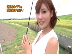 田園風景が広がるとある農家で寝取りSEXする大人気セクシー女優!