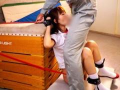 天使もえ×拘束 体操着激カワ美少女が拘束緊縛された状態で強制イマラチオ!...