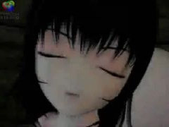 3Dエロアニメ 口内発射されちゃう! 黒髪美少女がふたなりの美女のペニスフ...