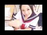 セーラー服の痴女JKがM男を手コキで強制射精させる動画