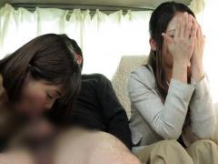 人妻ナンパ 嫁の前で寝取られて...フェラチオ強制射精! 美熟女ママも若い...