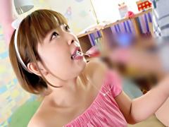ショートカット激カワ美少女のクチマンコを徹底開発、喉奥をデカチンで突...