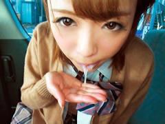 うへぇっいっぱい出たねっ; 幼いハニカミ顔がクソ可愛い関西の美少女JKの...