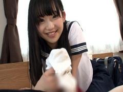 女子校生 激カワ美少女! スレンダーで貧乳おっぱいの可愛い制服美人JK 美...