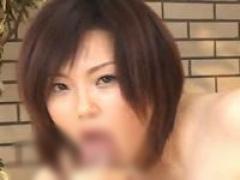 全裸美女が長い舌を伸ばしてフェラ SW