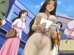 エロアニメ 褐色美女にリモコンバイブを装着してビラ配りをさせた後にご褒...