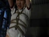 スクール水着やブルマ姿で緊縛されてSM陵辱調教されている童顔な美少女