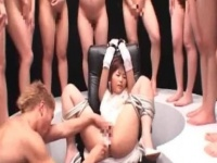 SM動画 束縛目隠し電マファック! ! シメは放尿シャワーのド変態動画。