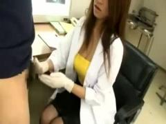 精子採取で 出しやすくしますね! 突然じゅぶっとしてお口で搾り取る女医