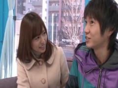 マジックミラー号 瑠川リナMM号初乗車! DVDショップで自分の作品を買って...