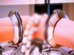 圧倒的3DCG画力 機械触手 調教台に完全固定された少女の2穴を意思を持たな...