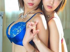 レズキス 激カワ美少女! スレンダーな巨乳おっぱいの可愛い美人お姉さんの...