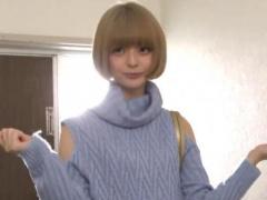 デビュー間もない激かわ金髪少女をスタジオに入った直後に玄関で即ハメ!
