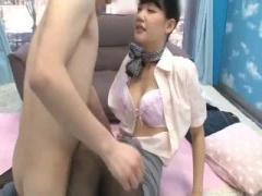 清楚なCAと中出し本番セックスしちゃう童貞君 マジックミラー号 MM号動画