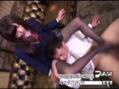 JK足コキ 美人で美脚なブレザーjk桜井あゆが黒ストッキングでM男サラリー...