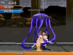 エロアニメ かわいくてセクシーなお姉さんが触手モンスターに宙吊りにされ...