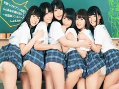 超絶カワイイ美少女JK6人が放課後の教室で酒を飲み泥酔のレズ大乱交! !