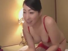 網タイツ痴女のオイル手コキフェラで強制射精させられるM男動画