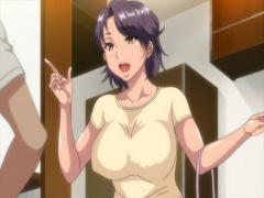 エロアニメ動画 結婚記念日に浮気相手を自宅に連れ込みヤリまくる淫乱巨乳...