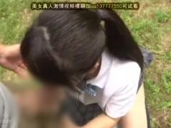 林の中で放尿する女子校生、運悪く放尿姿を目撃され弄ばれながら漏らしち...