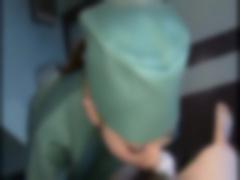 美人女医2人組の治療は激しく勃起したチ〇ポをフェラしてザーメンをお口に...