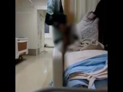 個人撮影 4人部屋の病棟で隣のヤンキーがお見舞いに来た彼女に溜まったザ...